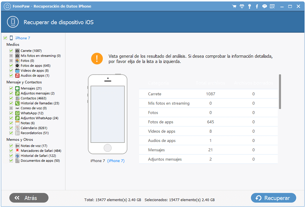 recuperar los datos de tu iPhone