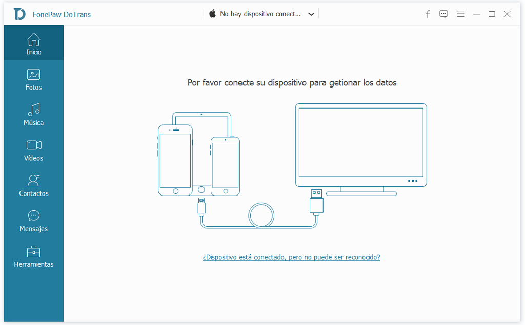 Conectar Android y iPhone al PC