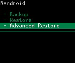 Advanced Restore