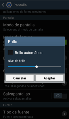 auto brillo de Android